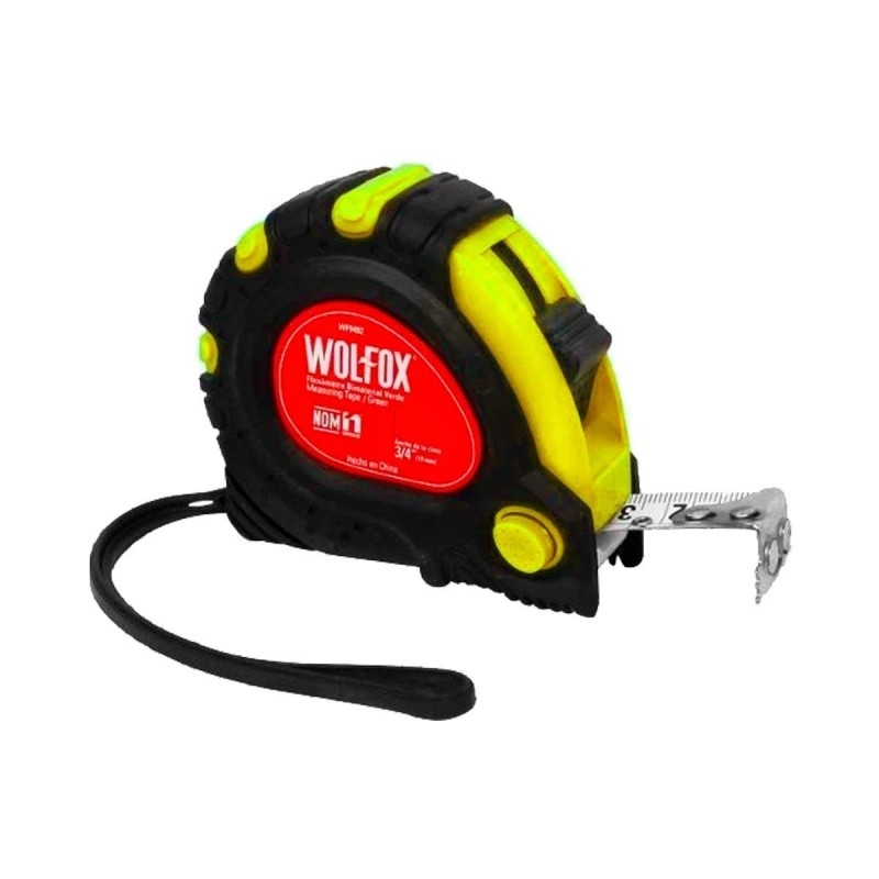 Cinta Métrica Amarilla (wincha) Flexómetro Bimetal 7.5mts WF9665 Wolfox