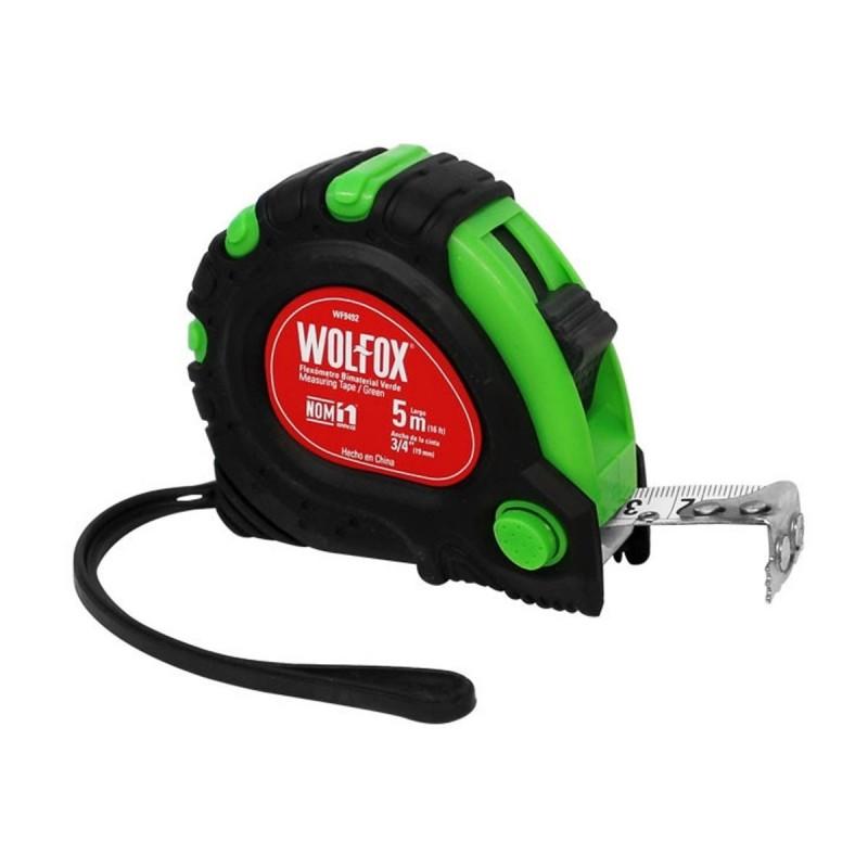 Cinta Métrica Verde (wincha) Flexómetro Bimetal 5mts WF9492 Wolfox