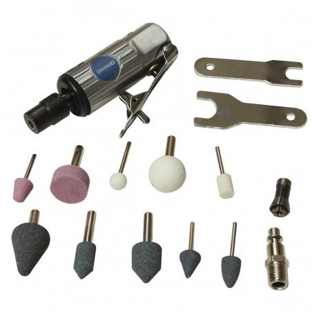 Mini Esmeriladora Neumática 25000 Rpm + Accesorios TC5352 Toolcraft
