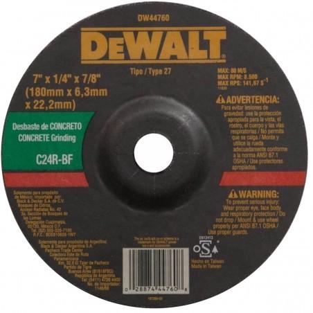 "Discos abrasivo 7 x 1/8"" Dewalt"