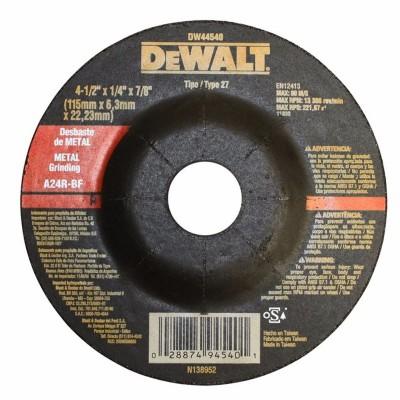 "Disco de desbaste para metal 4-1/2"" x 1/4"" DW44540 Dewalt"