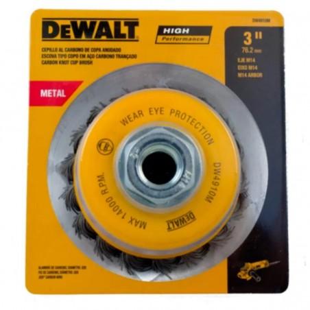 """Cepillo de copa trenzada 3"""" xM14 Carbon 0.20"""" 0.5mm Dewalt"""