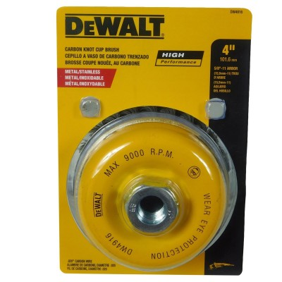 """Cepillo de copa trenzada 4"""" xM14 Carbon 0.20"""" 0.5mm Dewalt"""