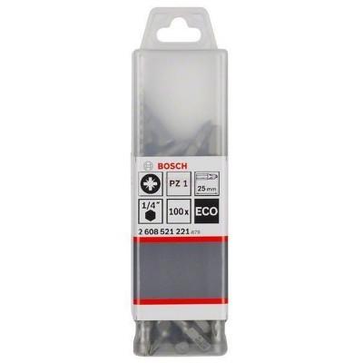 Punta Pozidrive 1 (PZ1) Eco Extra Hard 25mm Caja Plastica 100Unid
