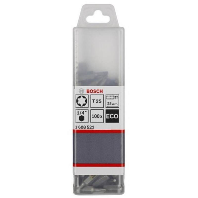 Punta TORX T25 Extra Hard 25mm Caja Plástica 100U
