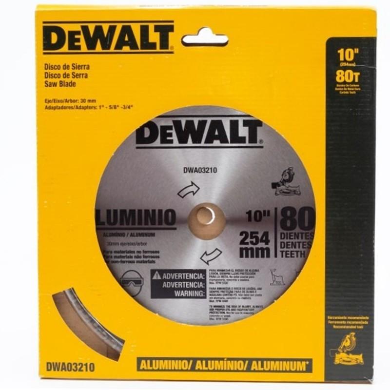 "Disco de sierra 10"" 80 Dientes Aluminio DWA03210 Dewalt"