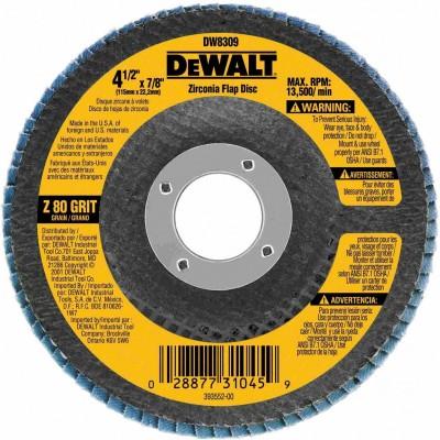 "DISCO FLAP 4-1/2x7/8"" GRANO 80 Dewalt"