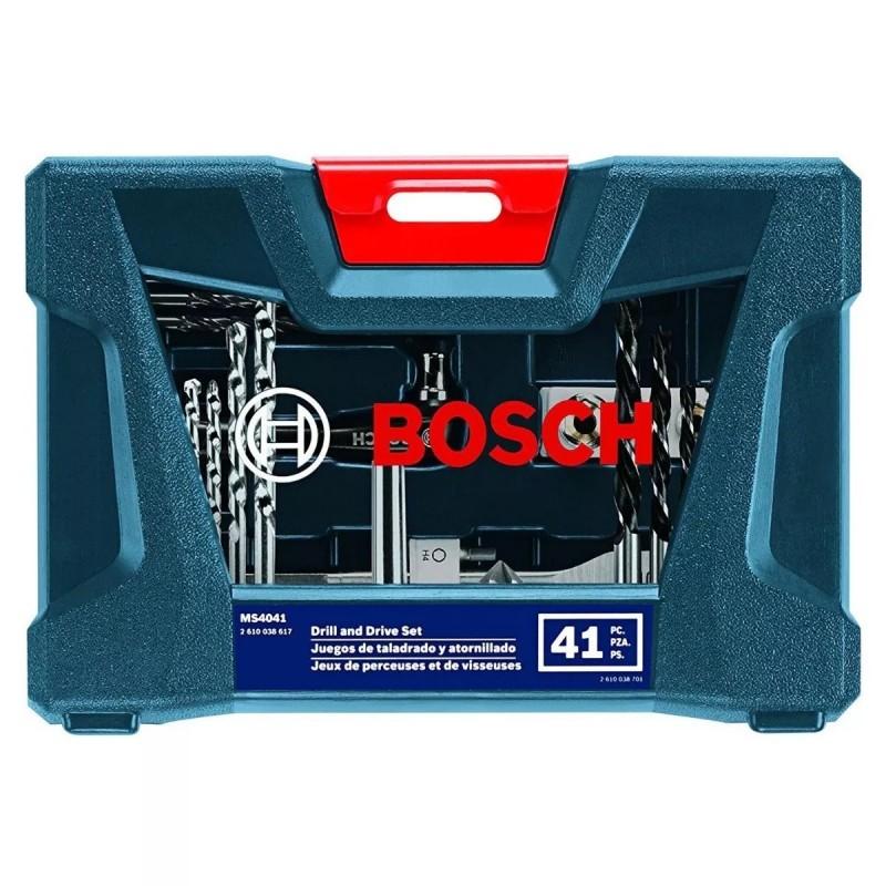 X-line 41 pz p/taladrar y atorn. azul Bosch