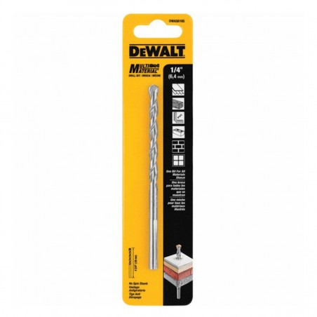 "Broca multimaterialL 1/4"" - 6.5mm DWA56165 Dewalt"