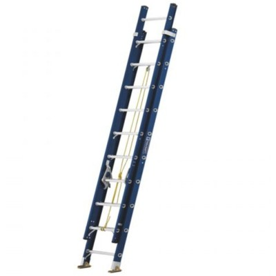 Escalera Extension Fibra De Vidrio 20 Escalones Tipo Ll Toolcraft