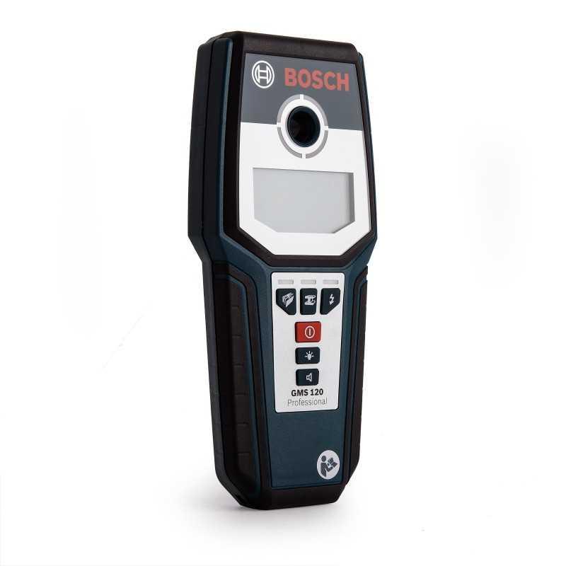 Detector De Metales Cables Madera Digital 9v Bosch Gms 120