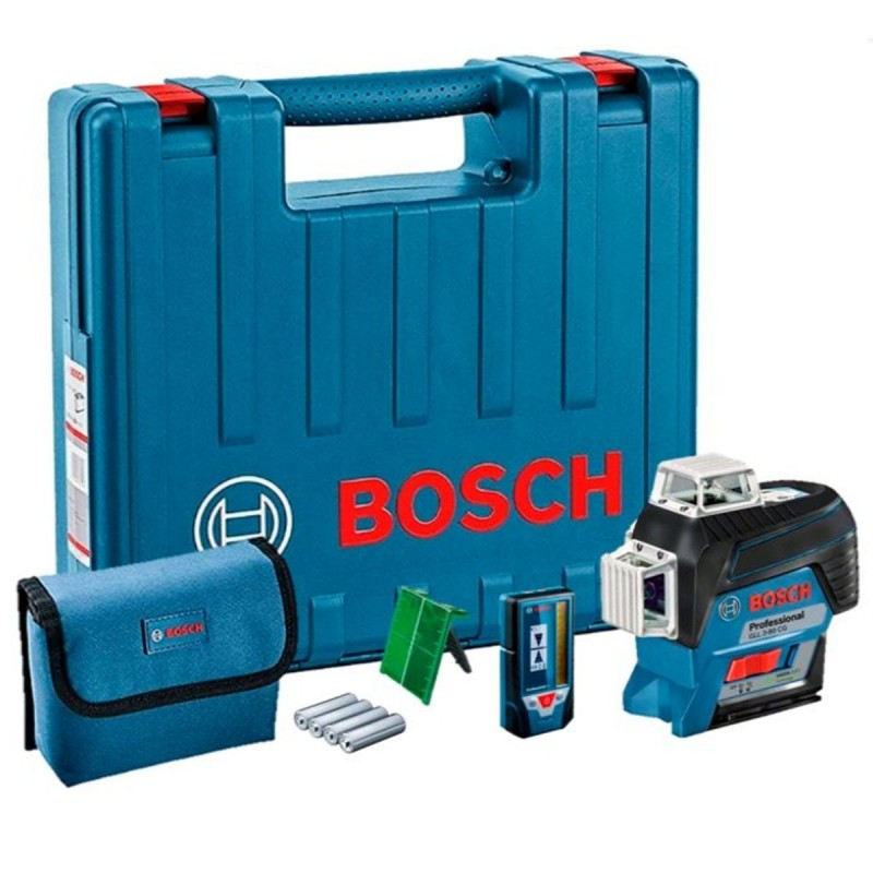 Nivel laser 3-60 Verde Bosch GLL 3-80CG + Receptor LR7