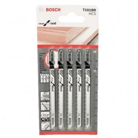 Hoja Caladora T101BR X5unid HCS Recto/Fino Especial limpia Madera