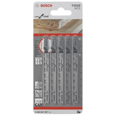 Hoja Caladora T101D X5unid HCS Recto/Fino Especial limpia Madera