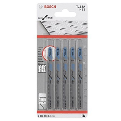 Hoja Caladora T118A X5unid HSS Recto/Fino especial basico para metal