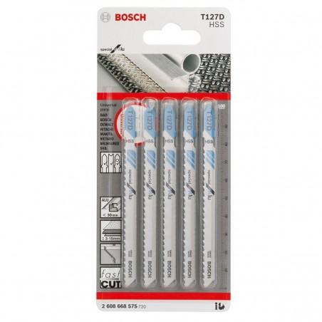 Hoja Caladora  T127D X5unid HSS Recto/Fino Especial para aluminio