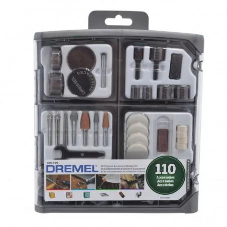 Kit de 110 accesorios para minitorno Dremel 709