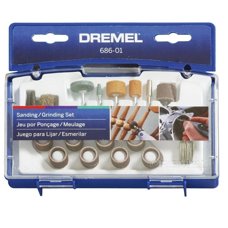 Kit de 31 accesorios para lijado y esmerilado Dremel 686