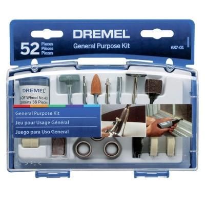 Kit de 52 accesorios para minitorno Dremel 687
