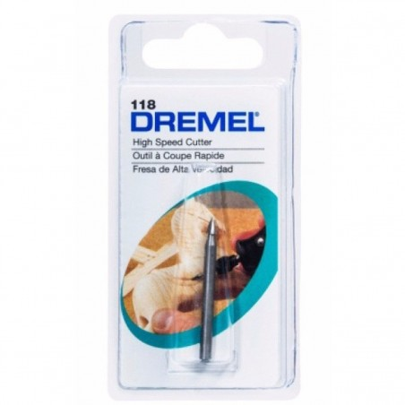 Fresa de alta velocidad conica 1/8 Dremel 118