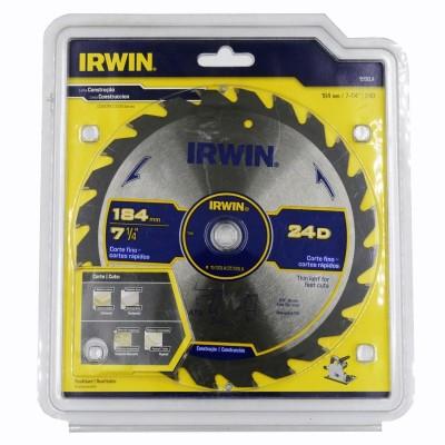 """Disco de sierra 7-1/4"""" X 24T  5/8"""" Universal 15130LA IRWIN"""
