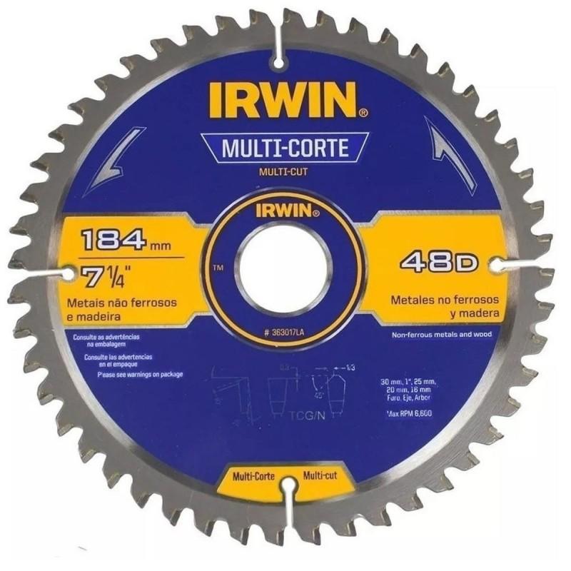 Disco de sierra 7-1/4 X 48T Multimaterial 363017LA IRWIN