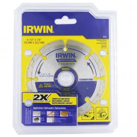 "Disco diamantado 115mm 41/2""  / Segmentado IW8946 IRWIN"