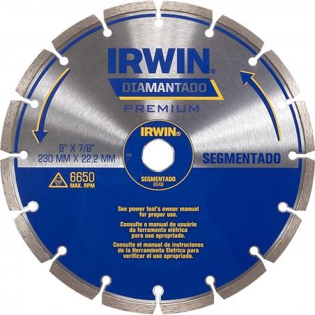 "Disco diamantado 230mm (9"")  / Segmentado IW8948 IRWIN"