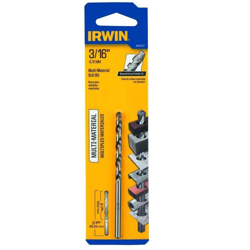 "Broca Multi-Material 3/16"" x 2"" x 3 3/4"" 4935107 Irwin"