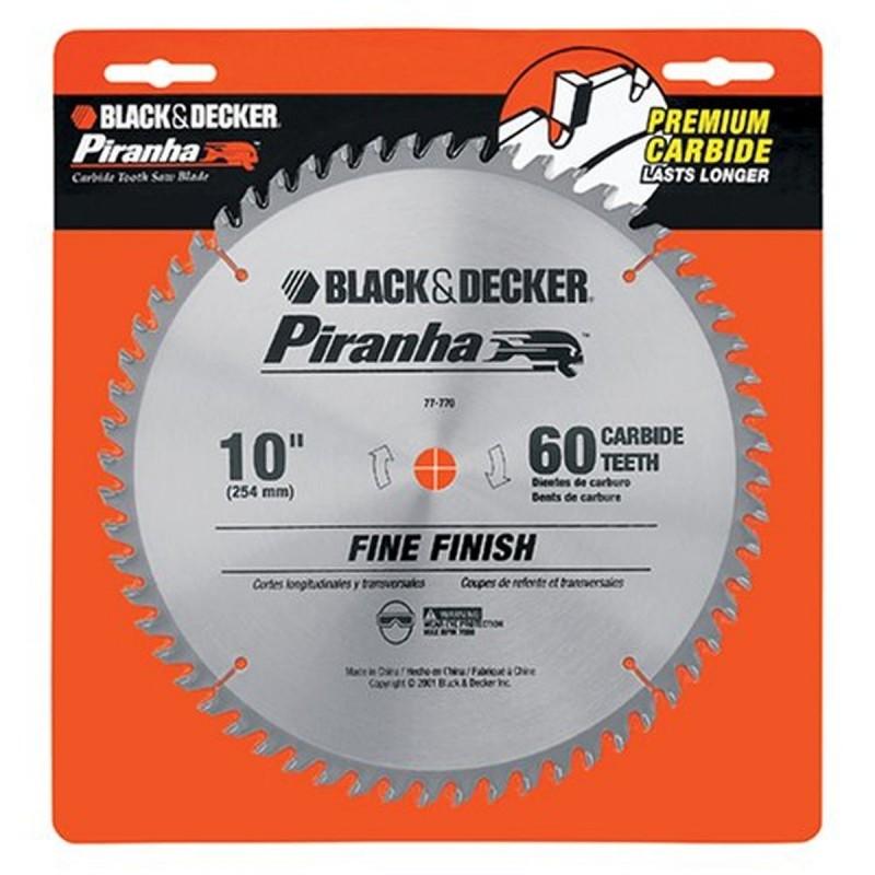 """Disco Piranha /DCUR 10 60 DIENTES BLACK + DECKER 5/8"""""""