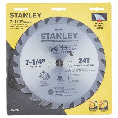Disco de sierra circular 7-1/4 X 24D STANLEY